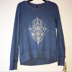 NWT Comfy Gaiam Rayon Blend Long Sleeve Top XS